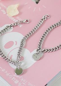 22851 - minimal coin bracelet <br>