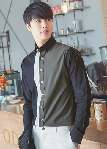 22894 - Cube Slim Span Shirt <br> <font style=font-size:11px;color:#595959>M (90) / L (95) / XL (100)</font> <br>