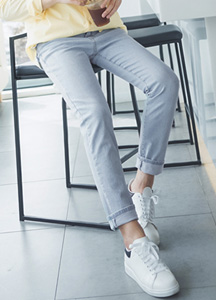 22940 - New BASIC Span denim pants <br> <font style=font-size:11px;color:#595959>28-36</font> <br>