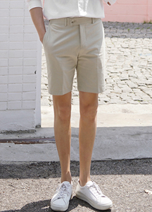 23042 - Cool Linen Banding Half Pants <br> <font style=font-size:11px;color:#595959>28 ~ 30/30 ~ 32</font> <br>