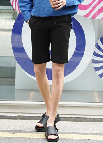 23046 - Comfortable 10Color Linen Banding Shorts <br> <font style=font-size:11px;color:#595959>28-36</font> <br>