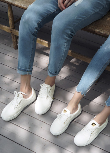 23047 - <b>6cm tall shoes</b> <br> Pendant White Sneakers <br> <font style=font-size:11px;color:#595959>230mm ~ 280mm</font> <br> <font color=#ff0000><b>[Man and woman couple]</b></font> <br>
