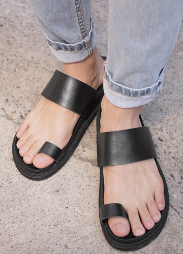 23048 - Victo Cowhide Slippers <br> <font style=font-size:11px;color:#595959>250mm ~ 275mm</font> <br>