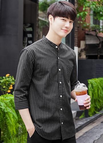 23064 - Linen Stripe 7 Shirts <br> <font style=font-size:11px;color:#595959>48 (95) / 50 (100) / 52 (105)</font> <br>