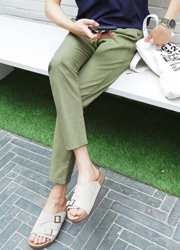 23099 - Perfect Linen Banding Pants <br> <font style=font-size:11px;color:#595959>28/30/32</font> <br>