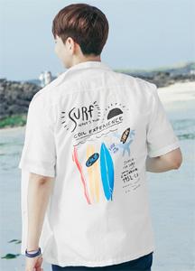 23100 - Surfing back print open shirt <br> <font style=font-size:11px;color:#595959>48 (95-100) / 50 (100-105)</font> <br>