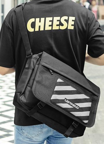 23119 - Left Field Mesh Messenger Bag <br>