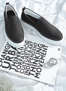 23120 - stitch Lineup Linen Slip-on Shoes <br> <font style=font-size:11px;color:#595959>230mm ~ 280mm</font> <br> <font color=#ff0000><b>[Man and woman couple]</b></font> <br>