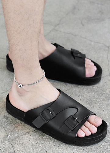 23123 - <b>3.5cm high-level shoes</b> <br> Checkers Zurich Buckle Slippers <br> <font style=font-size:11px;color:#595959>230mm ~ 280mm</font> <br> <font color=#ff0000><b>[Man and woman couple]</b></font> <br>