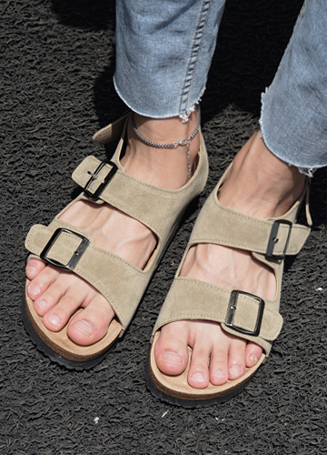 23240 - Suede to buckle Sandals <br> <font style=font-size:11px;color:#595959>250mm ~ 280mm</font> <br>
