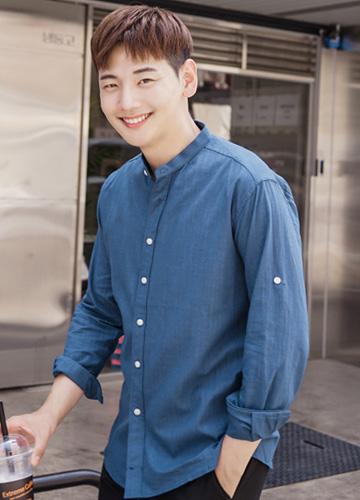 23256 - Soft Linen China Shirt <br> <font style=font-size:11px;color:#595959>1 (90) / 2 (95) / 3 (100)</font> <br>