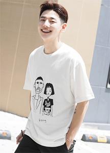 23293 - Wit Leong Print Short T shirts <br> <font style=font-size:11px;color:#595959>Free (95 ~ 105)</font> <br>