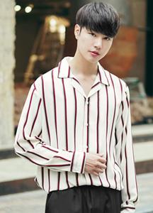 23301 - Bar Already Stripe Pajama Shirt <br> <font style=font-size:11px;color:#595959>50 (95-100) / 52 (100-105)</font> <br>