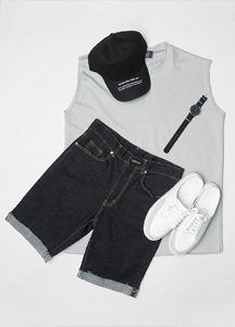 23382 - Basic décor overfit Sleeveless shirts <br> <font style=font-size:11px;color:#595959>Free (95 ~ 105)</font> <br>