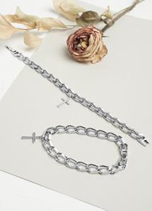 23402 - cross ring chain bracelet <br>