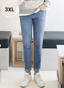 23424 - Deep Blue Cutting Span Jeans <br> <font style=font-size:11px;color:#595959>S ~ 3XL (28 ~ 38)</font> <br>