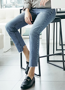 23477 - Slim Straight Cutting Denim Jean <br> <font style=font-size:11px;color:#595959>S ~ XL (28 ~ 34)</font> <br>
