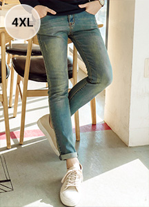18964 - Stitch Washing denim pants <br> <font style=font-size:11px;color:#595959>S ~ 4XL (28 ~ 40)</font> <br>