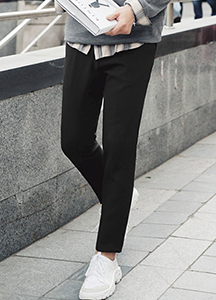 23579 - Natural Half Bending Slim Slacks <br> <font style=font-size:11px;color:#595959>M to XL (30 to 34)</font> <br>
