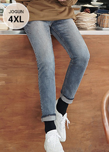 23541 - Dual Robe Washing Denim Jeans <br> <font style=font-size:11px;color:#595959>S ~ 4XL (28 ~ 40)</font> <br>