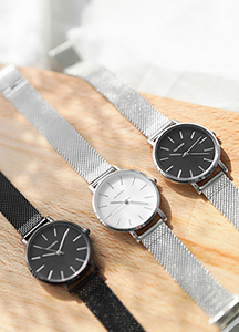 23644 - Chase simple steel watch <br><br>