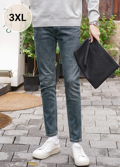 23676 - Straight Straight Denim Pants <br> <font style=font-size:11px;color:#595959>1 to 6 (28 to 38)</font> <br>