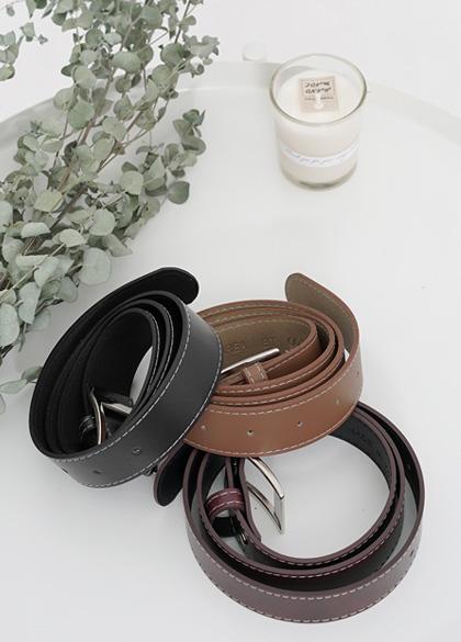 5827 - White stitch Belt <br> (3 color) <br>