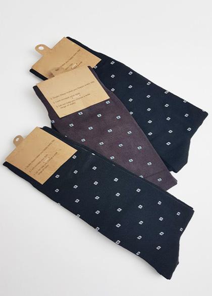 20416 - Square Dot Socks <br> (3 color) <br>