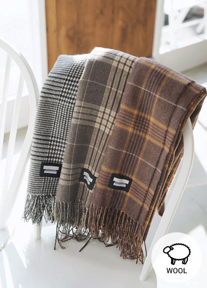 23948 - Boarding Check Wool muffler <br><br>