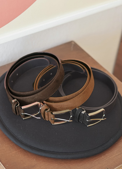 18840 - Square Suede Belt <br>