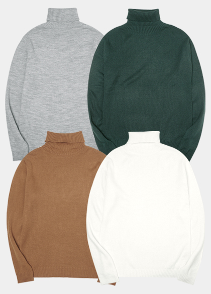 24184 - Tension Solid Turtleneck Knit <br> <font style=font-size:11px;color:#595959>M to L (95 to 105)</font> <br>
