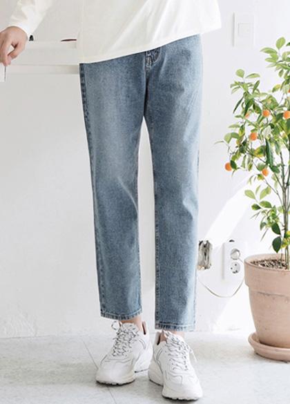 24448 - Standing Regular Fit denim pants <br> <font style=font-size:11px;color:#595959>S ~ L (28 ~ 32)</font> <br>