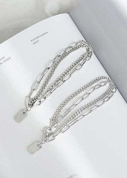 24561 - Two lines metal bracelet <br><br>