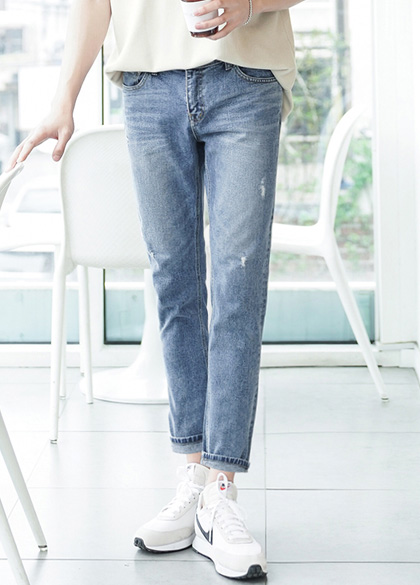 24589 - Cut tapered cut denim pants <br> <font style=font-size:11px;color:#595959>S ~ XL (28 ~ 34)</font> <br>
