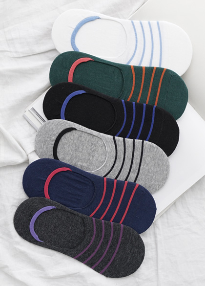 24668 - Men's Stripe Fake Socks <br><br>
