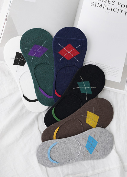 24674 - Men's Argyle Fake Socks <br><br>