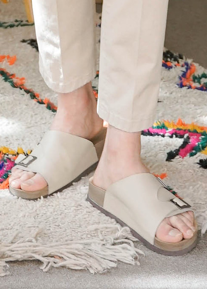 24684 - Summer Blow Leather Slippers <br> <font style=font-size:11px;color:#595959>230mm ~ 280mm</font> <br>