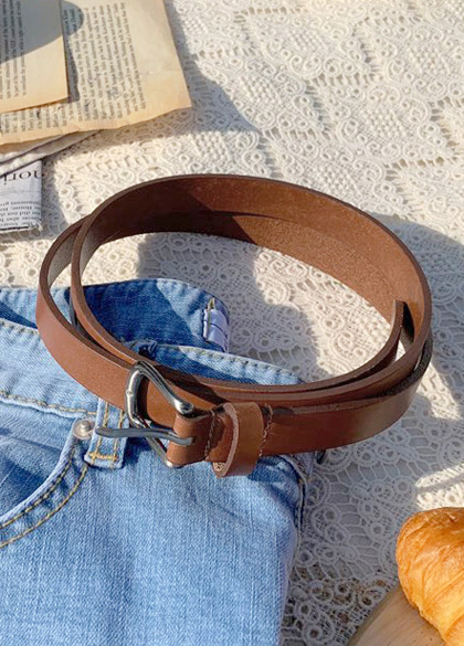 24707 - key point Mini square leather belt <br><br>