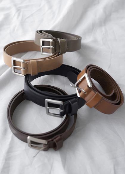 24974 - Square Buckle Leather Belt <br><br>