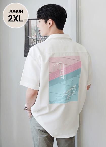 24675 - loose fit Summer printing short-sleeved shirt <br> <font style=font-size:11px;color:#595959>M-2XL (95-110)</font> <br>