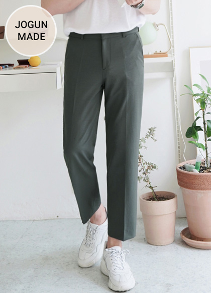 24851 - Solid Cooling Wide Slacks <br> <font style=font-size:11px;color:#595959>S-XL (28-34)</font> <br>