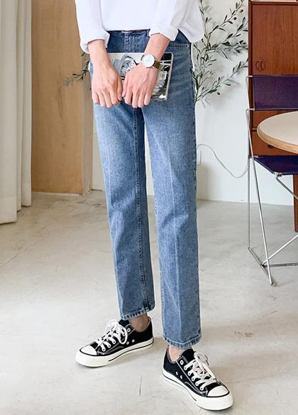 25038 - Cause straight fit denim pants <br> <font style=font-size:11px;color:#595959>S-XL (28-34)</font> <br>