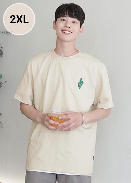 24770 - Summer Cactus Casual T-shirt <br> <font style=font-size:11px;color:#595959>M-2XL (95-110)</font> <br>