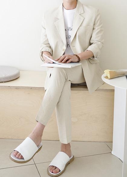 24758 - Macle Linen Suit Set <br> <font style=font-size:11px;color:#595959>50-52 (95 to 105)</font> <br>