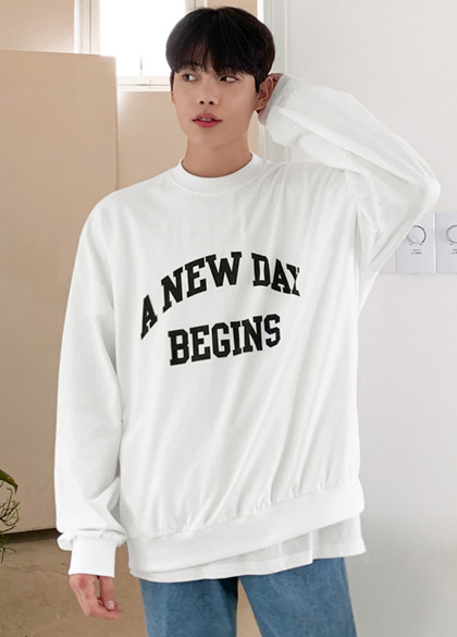 25012 - New All Days in-between season sweatshirt <br> <font style=font-size:11px;color:#595959>F size (95 to 105)</font> <br>