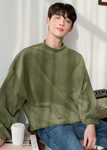 25494 - Basic fleece plain sweatshirt <br> <font style=font-size:11px;color:#595959>F size (95 to 105)</font> <br>
